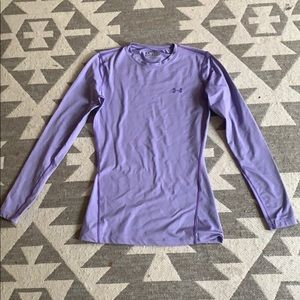 Lilac Crew neck Under Armour long sleeve